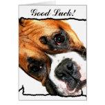 Tarjeta de felicitación del perro del boxeador de