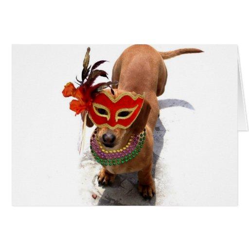 Tarjeta de felicitación del perro del Dachshund de