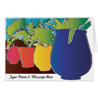 Tarjeta de felicitación del personalizable del jar