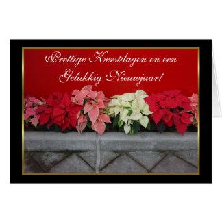 Tarjeta de felicitación del Poinsettia del kerstda