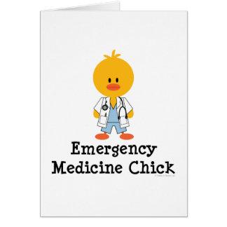 Tarjeta de felicitación del polluelo de la medicin