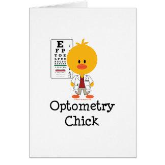Tarjeta de felicitación del polluelo de la optomet