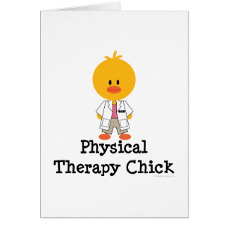 Tarjeta de felicitación del polluelo de la terapia