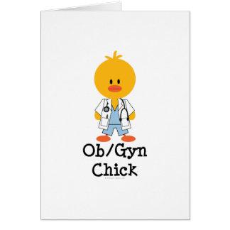 Tarjeta de felicitación del polluelo de OB GYN