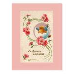 Tarjeta de felicitación del polluelo de Pascua del Tarjetas Postales