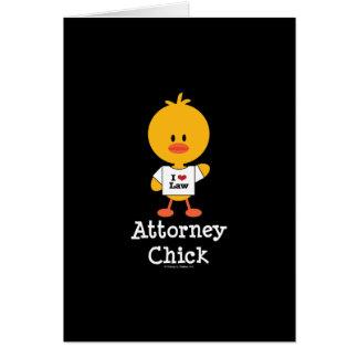 Tarjeta de felicitación del polluelo del abogado