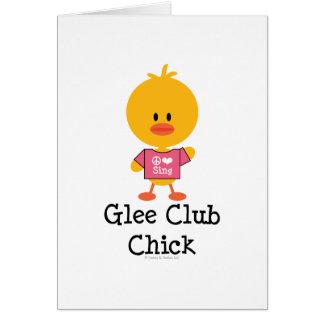 Tarjeta de felicitación del polluelo del club de j