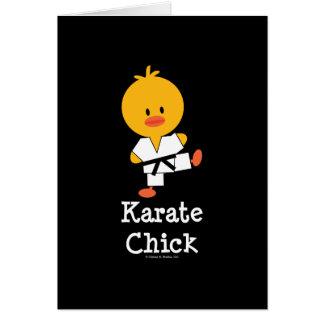 Tarjeta de felicitación del polluelo del karate