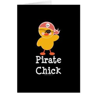 Tarjeta de felicitación del polluelo del pirata