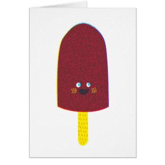 Tarjeta de felicitación del Popsicle del chocolate