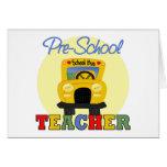 Tarjeta de felicitación del profesor del preescola
