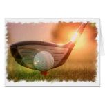 Tarjeta de felicitación del Putter del golf
