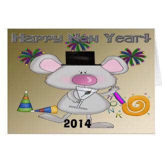 Tarjeta de felicitación del ratón del Año Nuevo