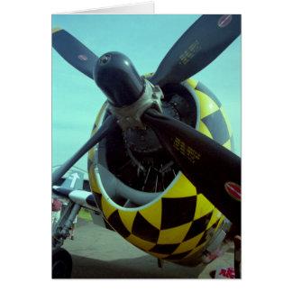 Tarjeta de felicitación del rayo P-47