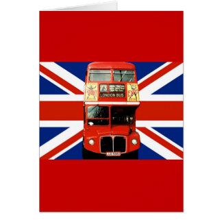 Tarjeta de felicitación del recuerdo de Londres In