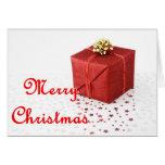 Tarjeta de felicitación del regalo de Navidad
