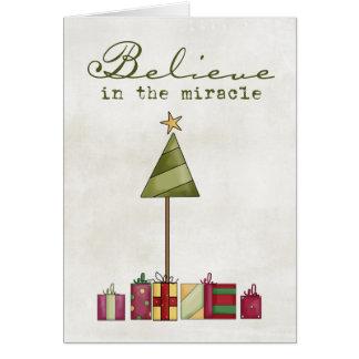 Tarjeta de felicitación del regalo del navidad