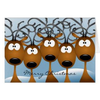 Tarjeta de felicitación del reno del navidad