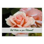 Tarjeta de felicitación del retiro del rosa de té
