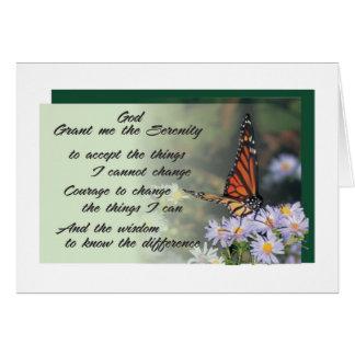 tarjeta de felicitación del rezo de la serenidad 1