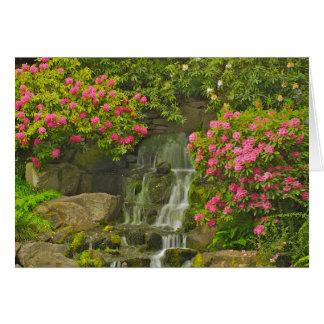 Tarjeta de felicitación del rododendro