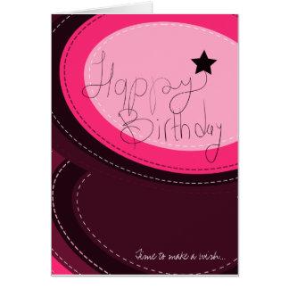 Tarjeta de felicitación del rosa del feliz cumplea