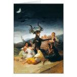 Tarjeta de felicitación del Sabat de las brujas de