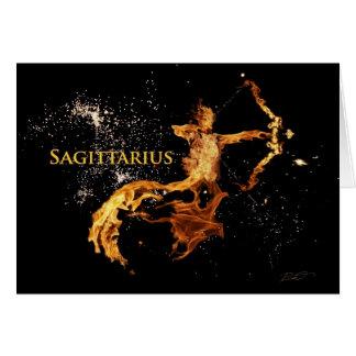 Tarjeta de felicitación del sagitario - símbolos d