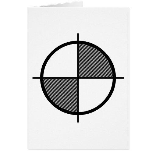 Tarjeta de felicitación del símbolo de la elevació