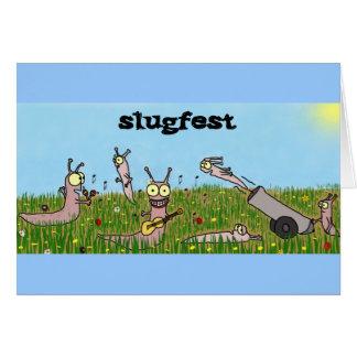 Tarjeta de felicitación del Slugfest