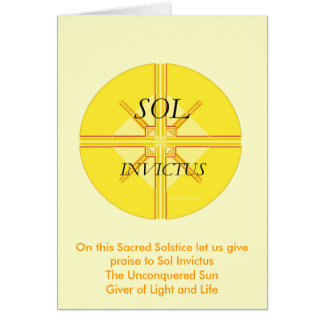 Tarjeta de felicitación del solenoide Invictus