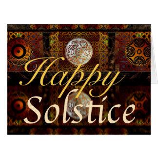 Tarjeta de felicitación del solsticio