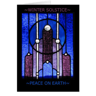 Tarjeta de felicitación del solsticio de invierno