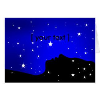 Tarjeta de felicitación del soñador de la noche
