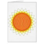 tarjeta de felicitación del sunfire