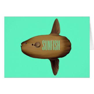 Tarjeta de felicitación del Sunfish espacio en