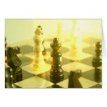 Tarjeta de felicitación del tablero de ajedrez