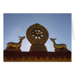 Tarjeta de felicitación del tejado del templo de J