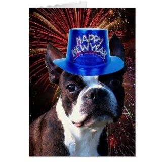Tarjeta de felicitación del terrier de Boston de l