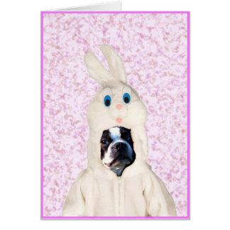 Tarjeta de felicitación del terrier de Boston del