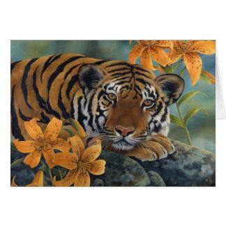 Tarjeta de felicitación del tigre