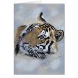 Tarjeta de felicitación del tigre Banda de Kanha