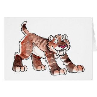 Tarjeta de felicitación del tigre de Sabretooth