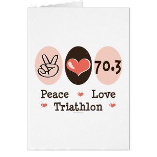 Tarjeta de felicitación del Triathlon del amor de