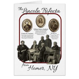 Tarjeta de felicitación del Trifecta de Lincoln de