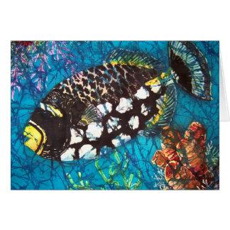 Tarjeta de felicitación del Triggerfish del payaso