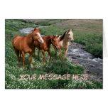 Tarjeta de felicitación del trío del caballo