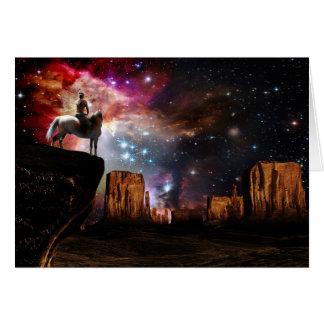 Tarjeta de felicitación del universo del nativo