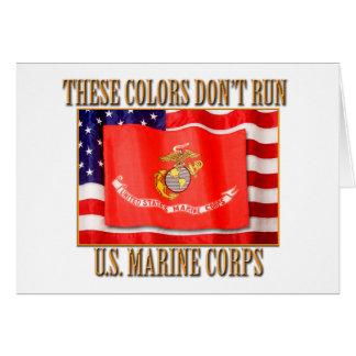 Tarjeta de felicitación del USMC