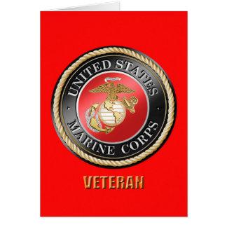 Tarjeta de felicitación del veterano del USMC